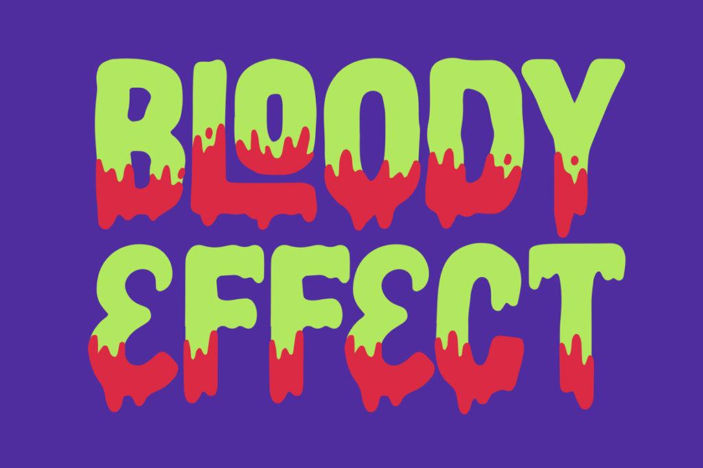 Haluween Fonts – Bloody Effect