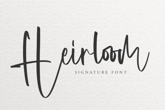 Heirloom Font