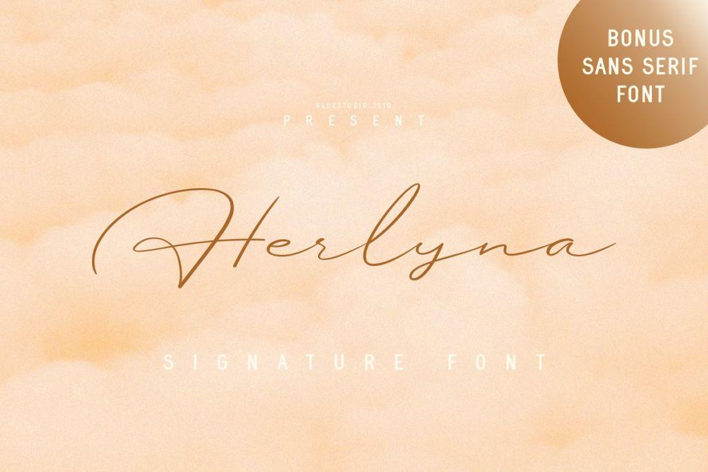 Herlyna // Signature Font + BONUS