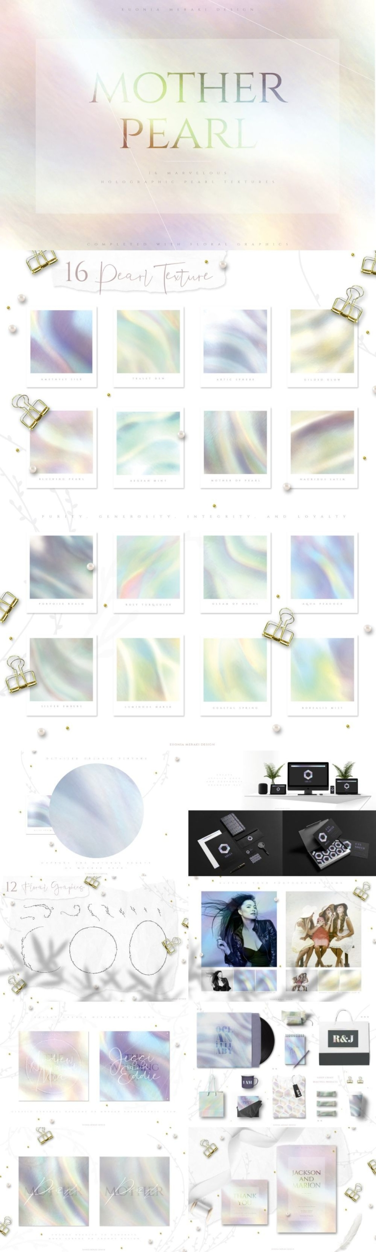 Holographic Pearl Original Textures
