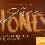 HoneyHoney-3d-lettering-free-deeezy-1