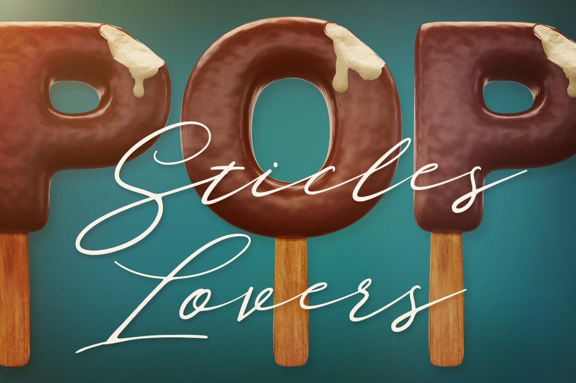 Ice Cream Free 3D Lettering