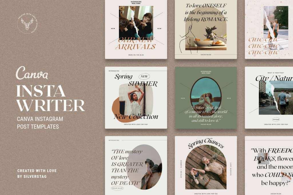 #InstaWriter - Canva Post Templates