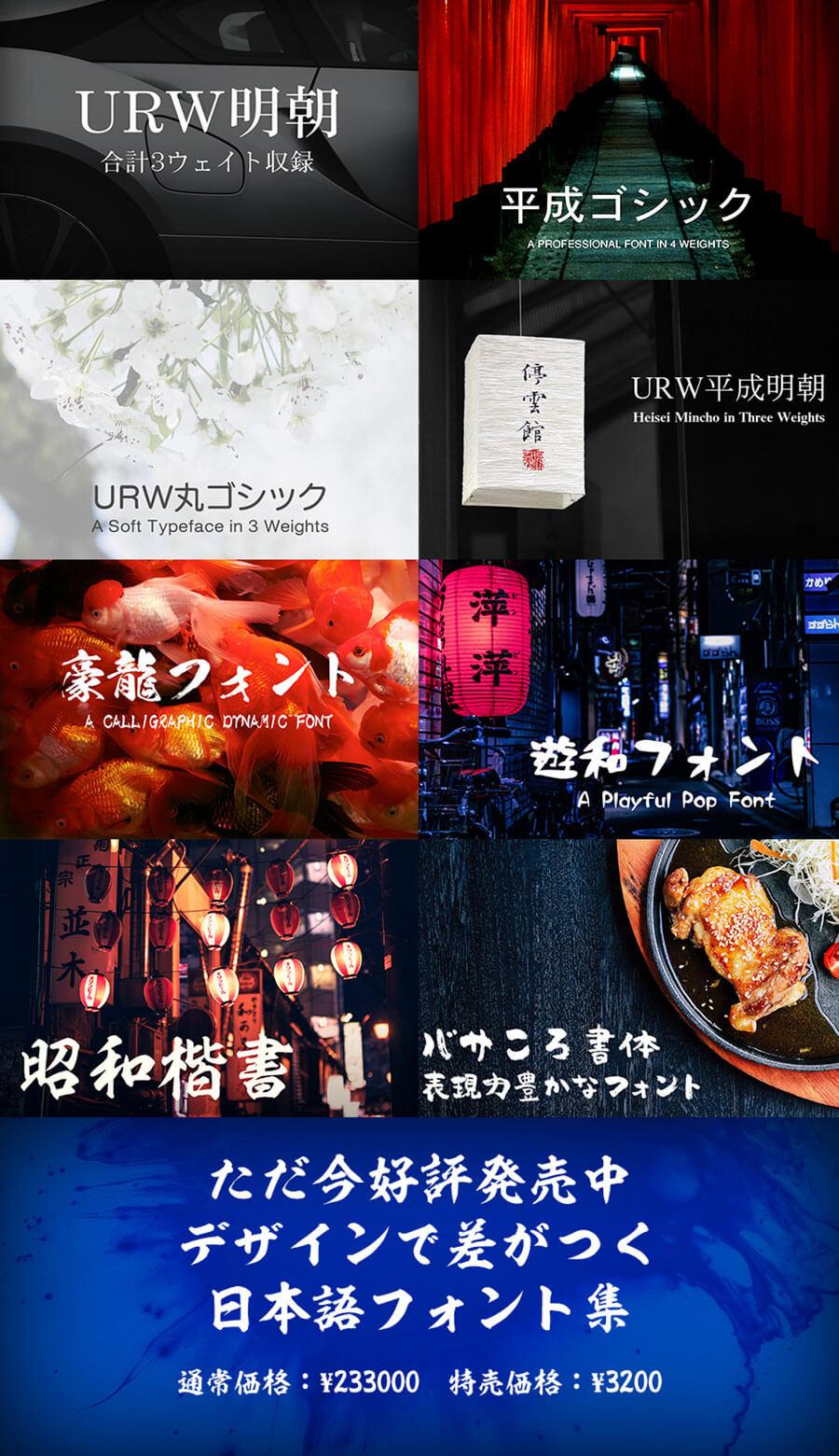デザインで差がつく 日本語フォント集