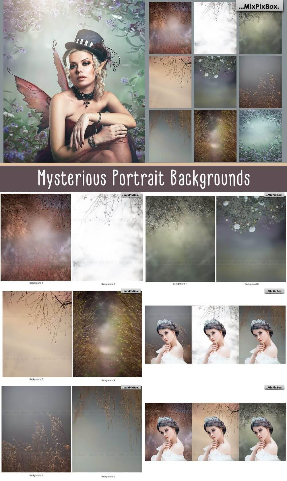 Mysterious Portrait Backgrounds