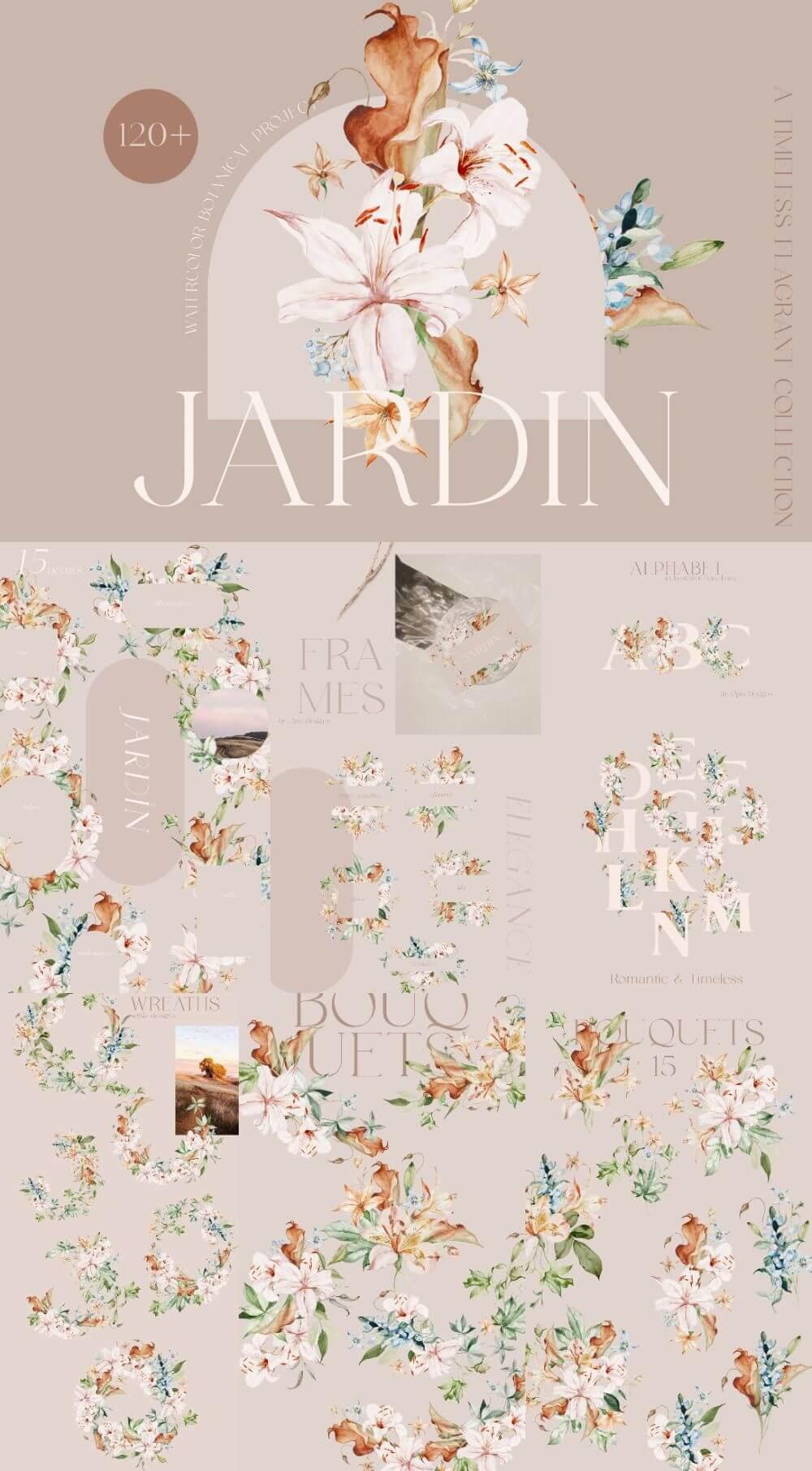 Jardin – Watercolor Botanicals