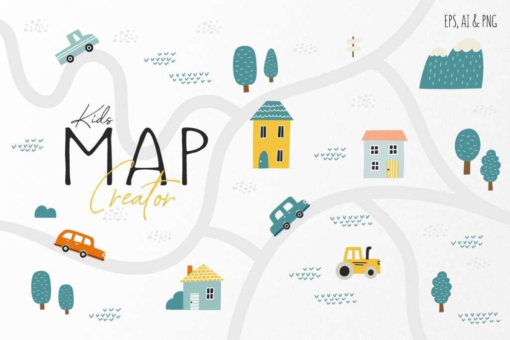 Kid's Map Creator Set