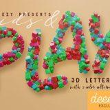 Kids-Play-3D-lettering-Deeezy-1