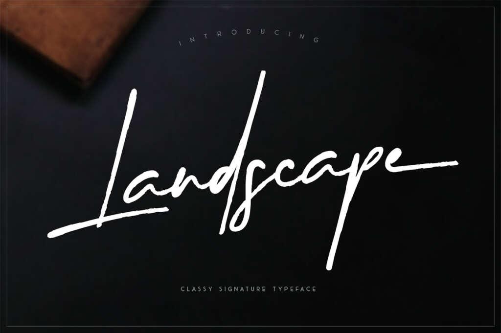 Landscape – Signature Font