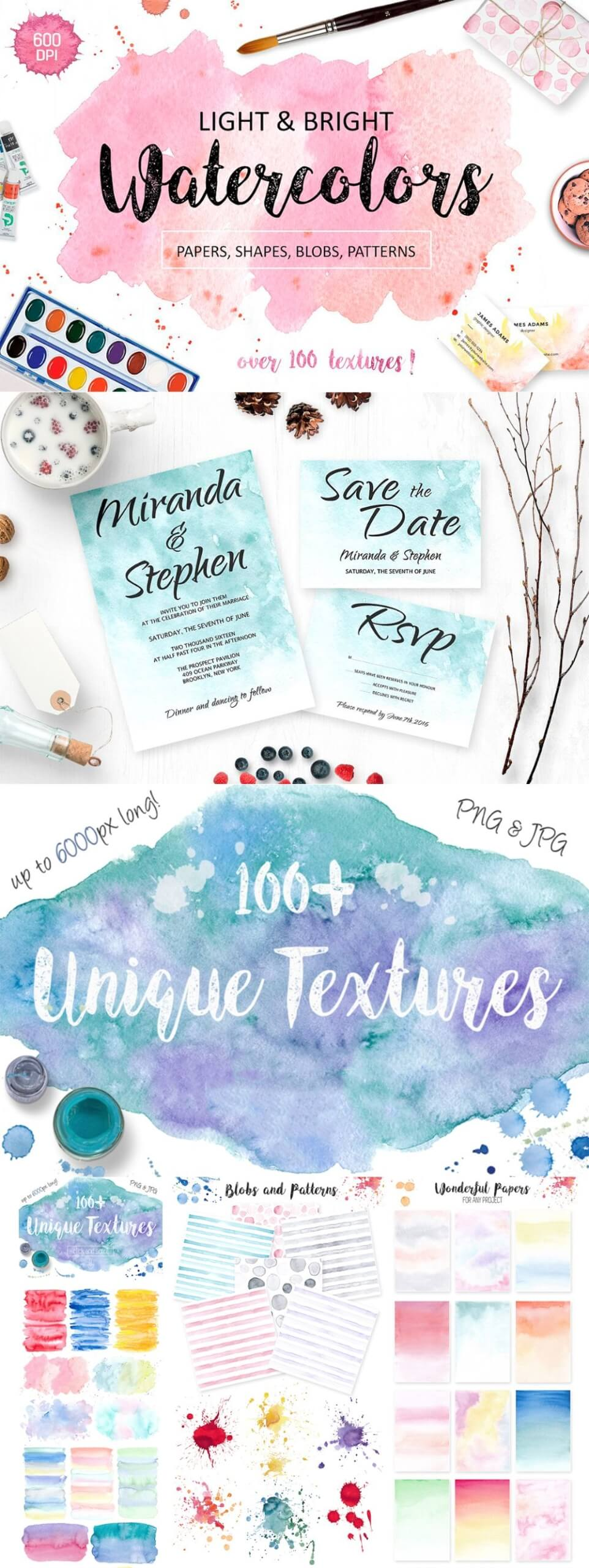 Light & Bright Watercolor Textures