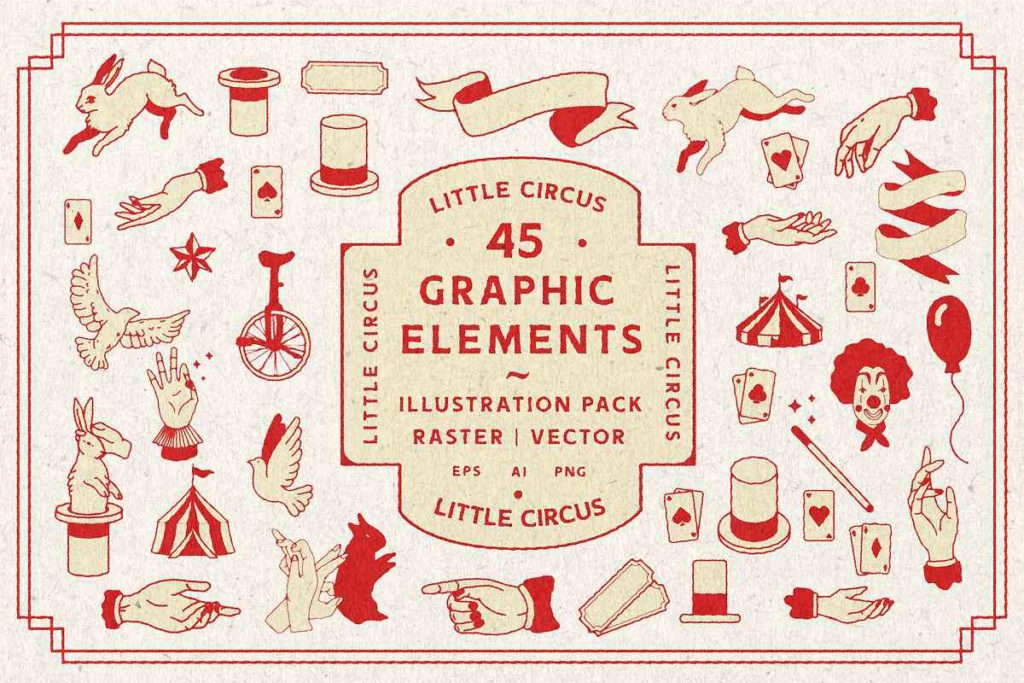 Little Circus   Graphic Elements