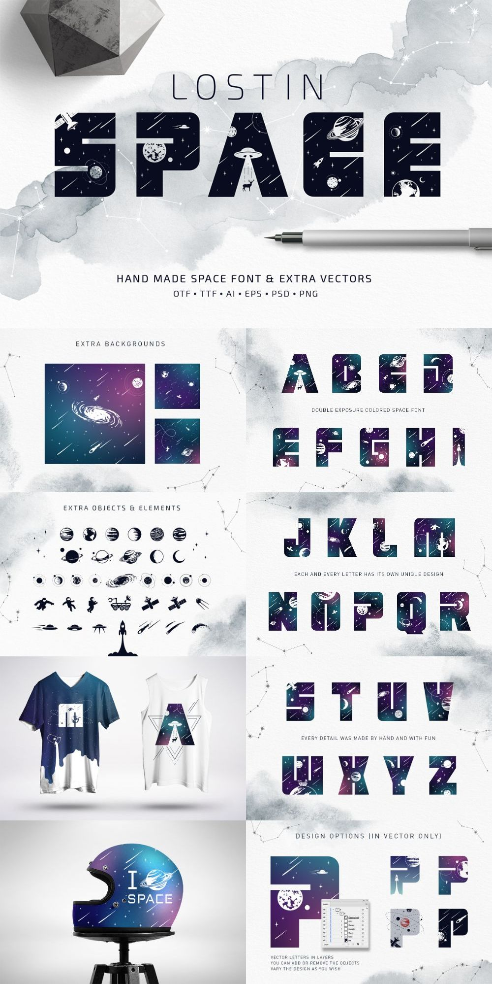 Lost In Space – Regular And Color Font (SVG)