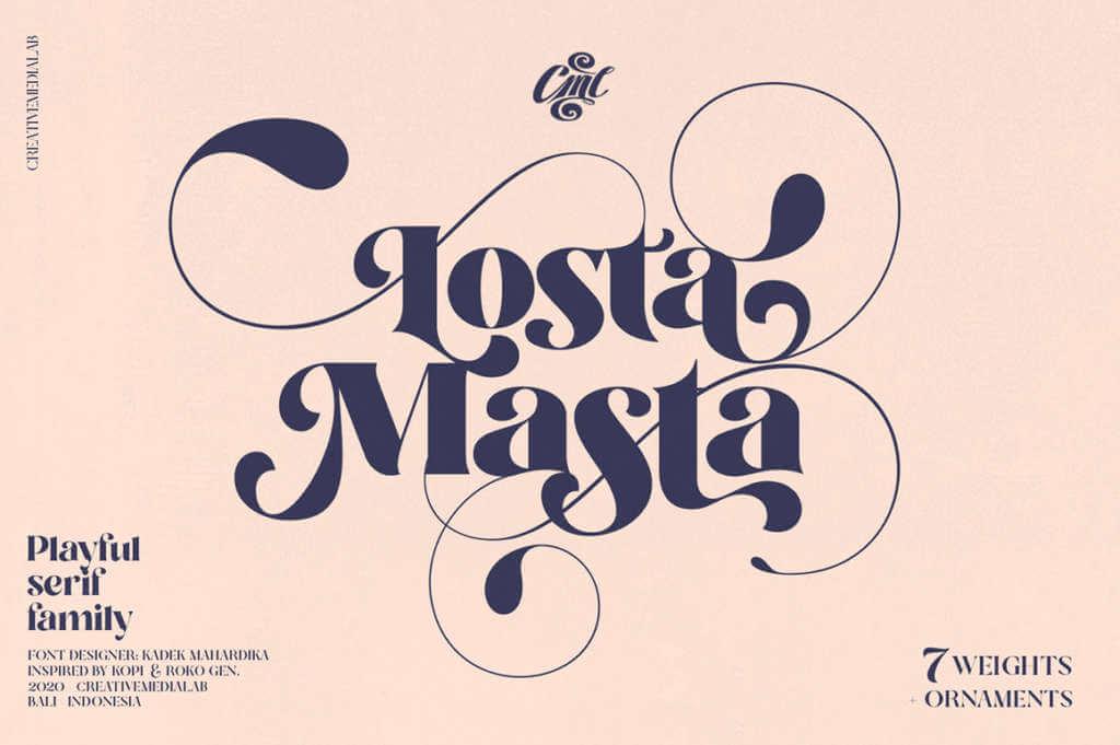 Losta Masta – Fun and Playful Retro Serif Family