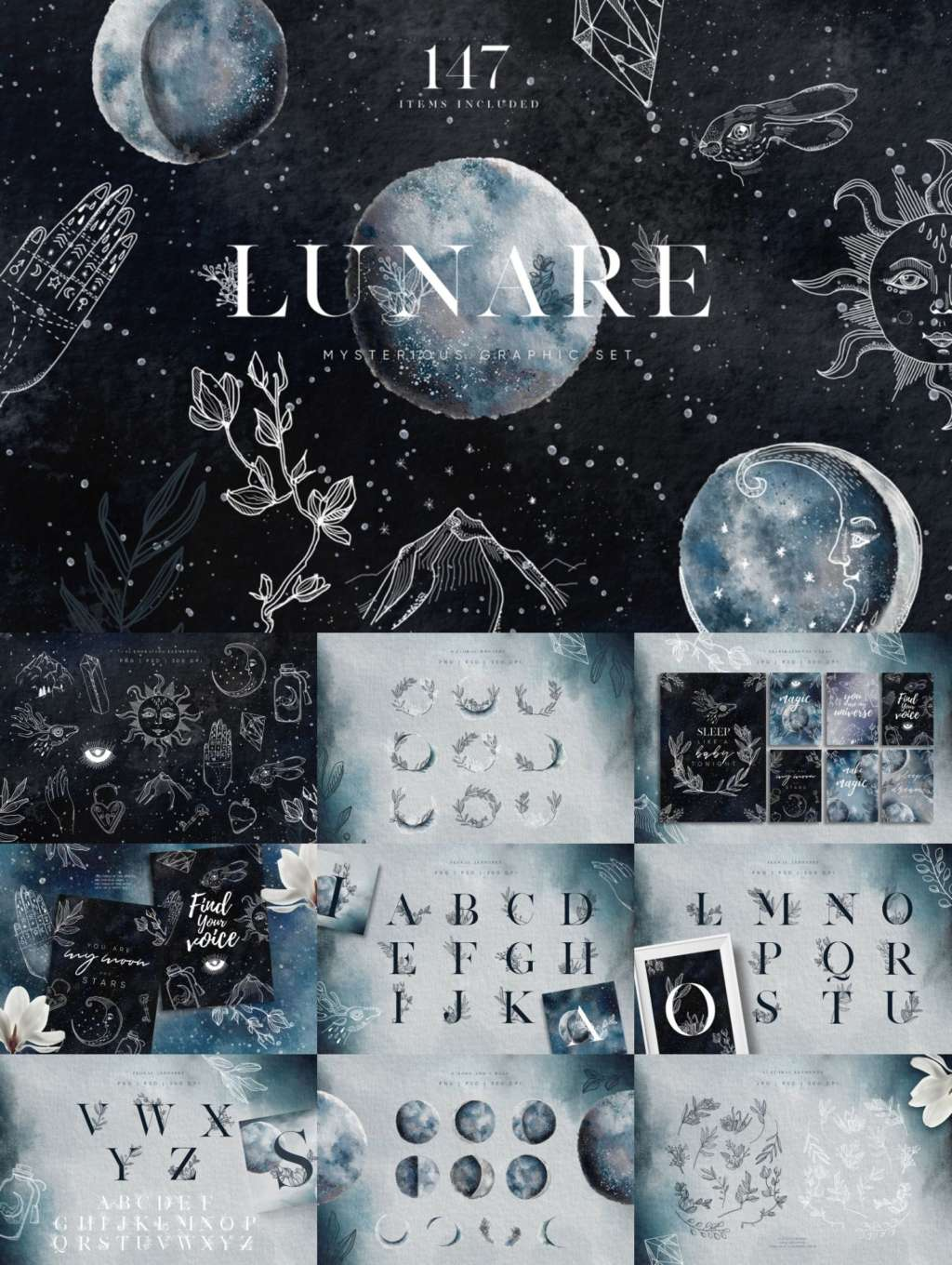Lunare Mysterious Graphic Set