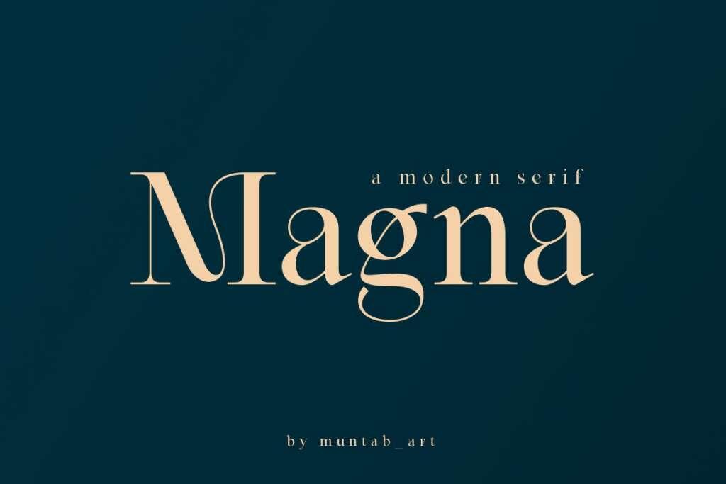 Magna   Modern Serif font