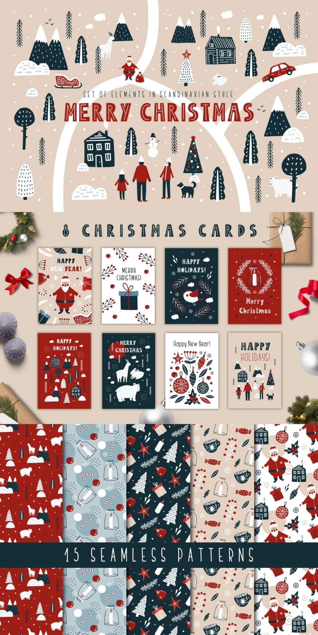 Merry Christmas – Scandinavian Set
