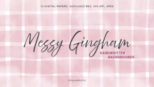 Messy Gingham Handwritten Backgrounds-thumbnail