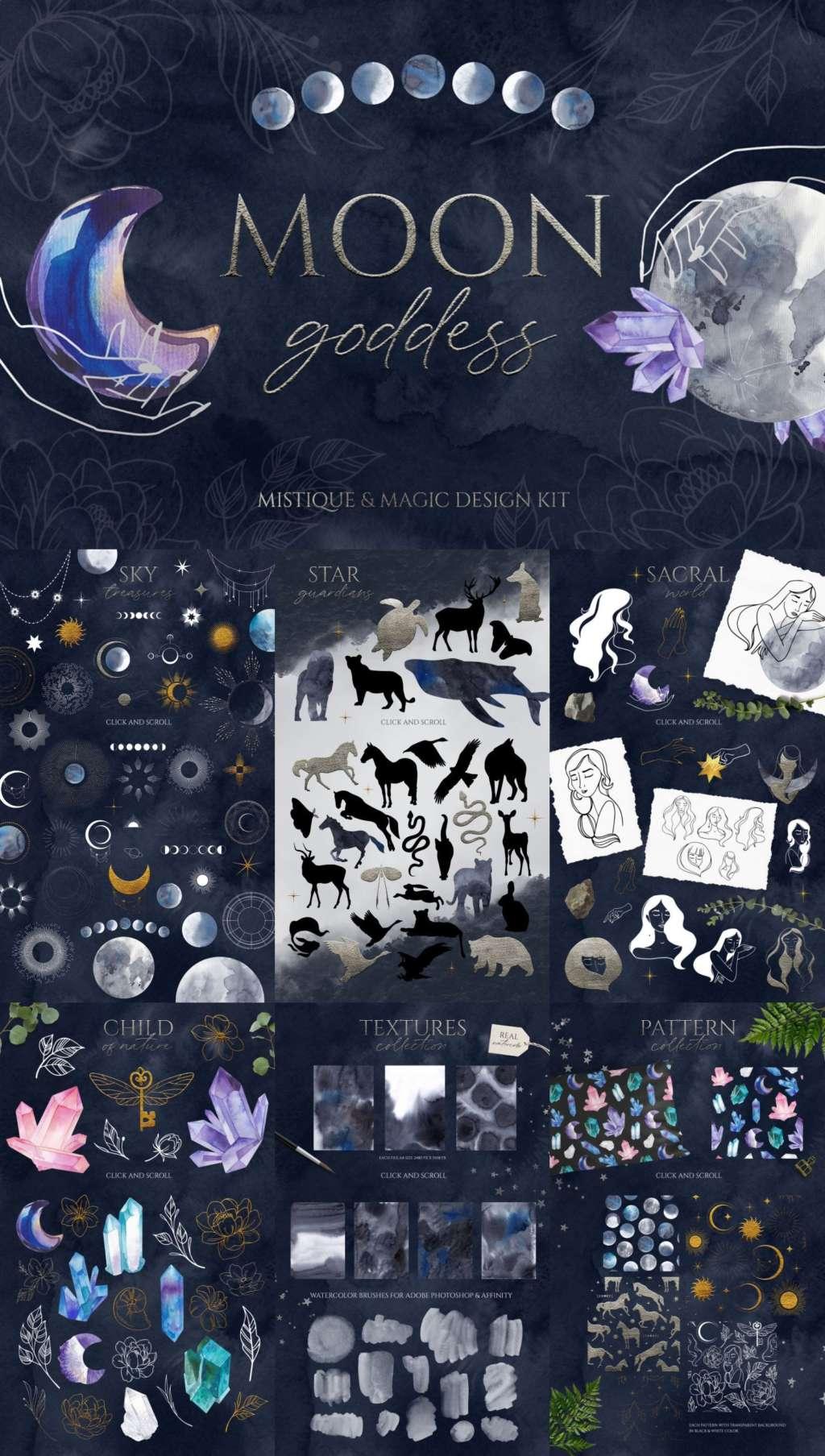 Moon Goddess Magic Design Set