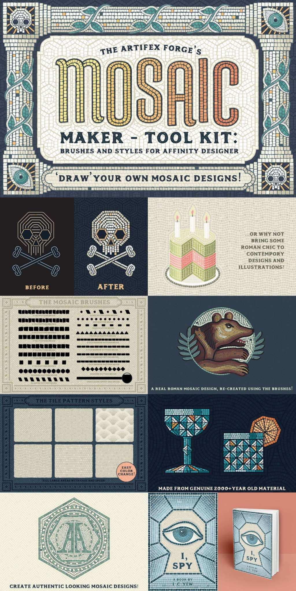 Mosaic Maker – Affinity Brushes & Patterns