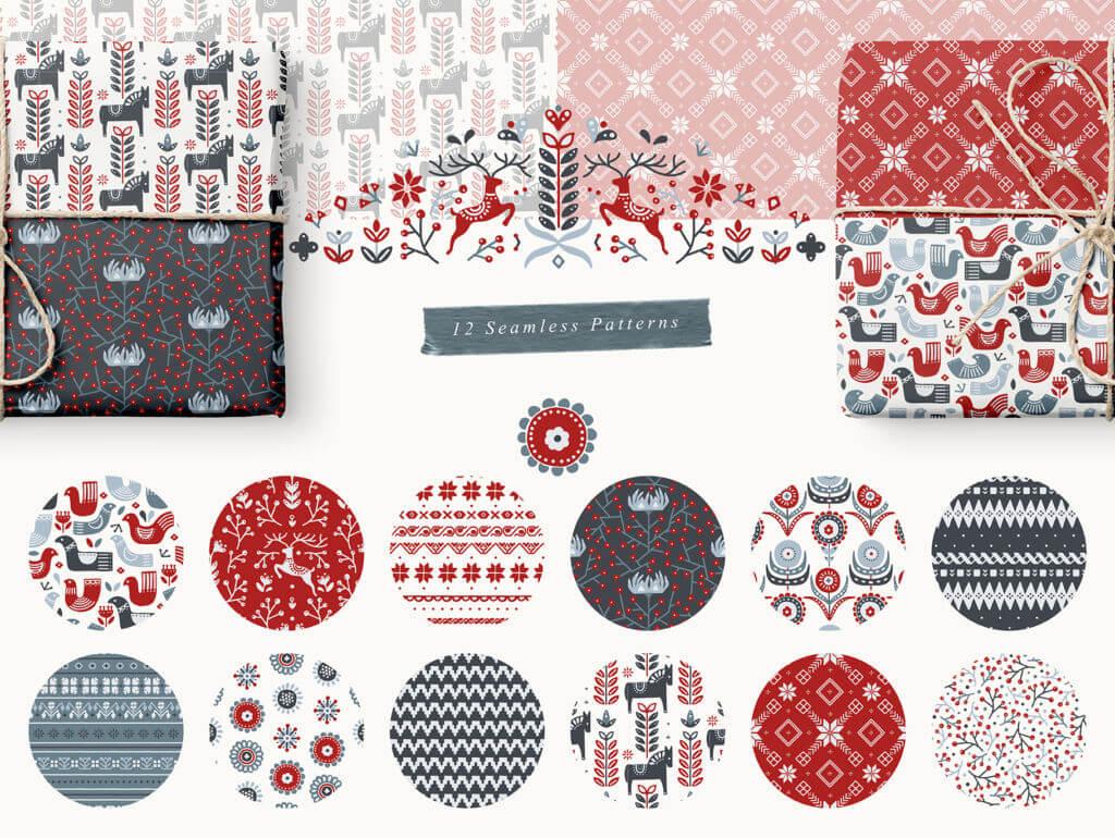 Scandinavian Christmas Illustrations