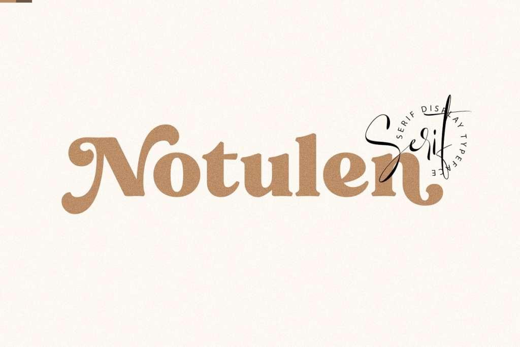 Notulen Serif Display - Extra Bold
