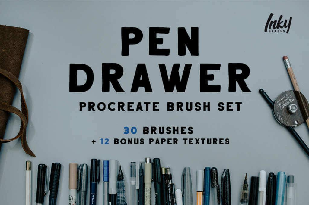 Pen Drawer Procreate Pack
