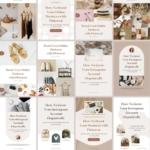 Pinterest Templates Canva Shadow - Editable Minimum Social Media Design Blogger CTA Quotes Pack