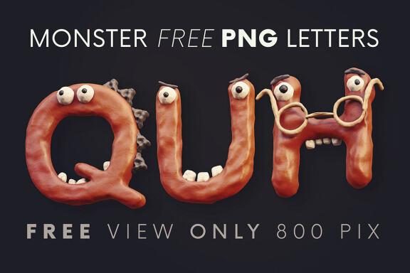 Plasticine Monsters - Free 3D Lettering