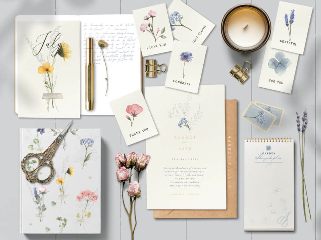 PRESSED FLORAL WATERCOLOR COLLECTION