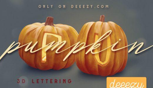 【ハロウィン】かわいいかぼちゃ/パンプキンの無料アルファベット・数字素材