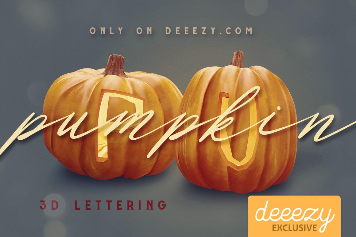 Pumpkin-3D-lettering-Deeezy-1