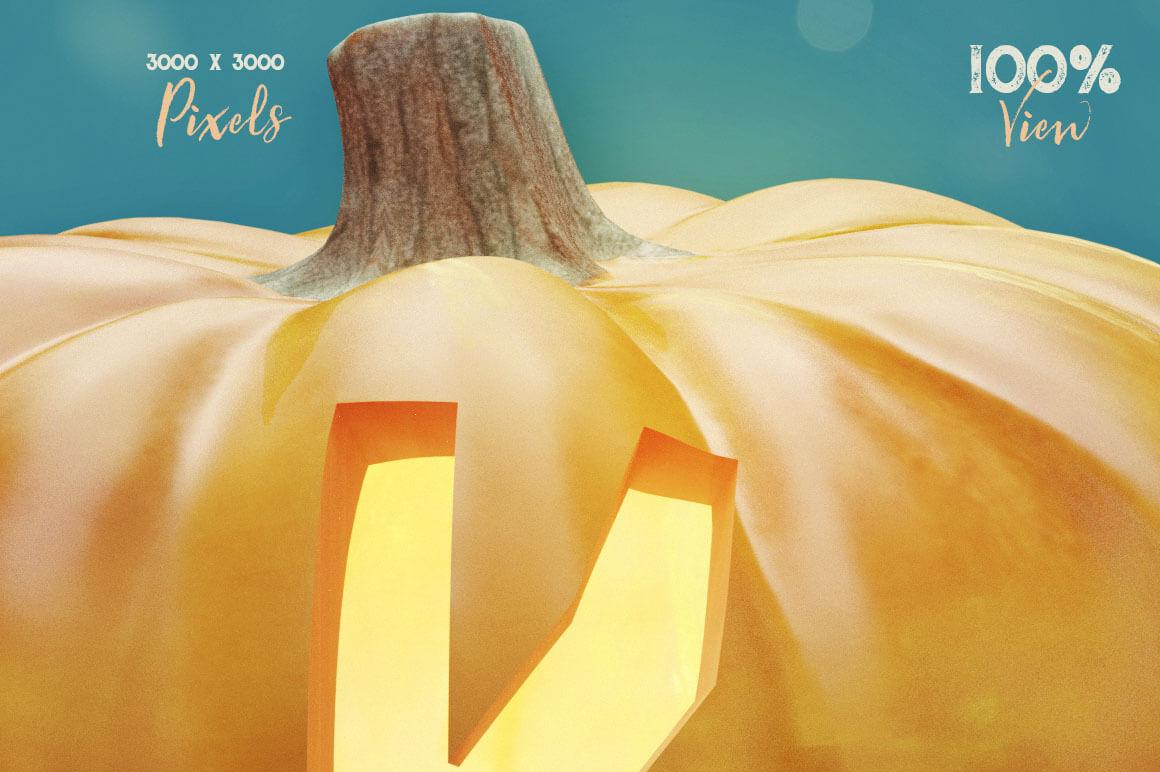 Pumpkin-3D-lettering-Deeezy-3