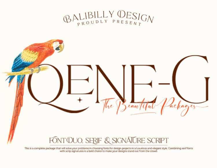 QENE-G - FREE SERIF FONT