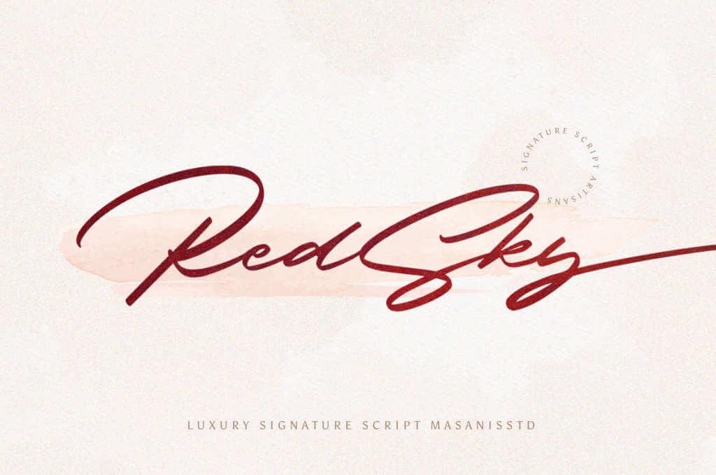 REDSKY SIGNATURE FONT