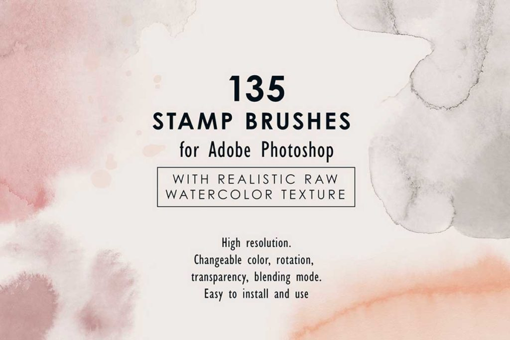 RAW WATERCOLOR – PHOTOSHOP BRUSHES