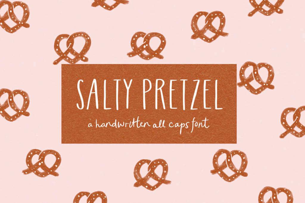 SALTY PRETZEL FONT
