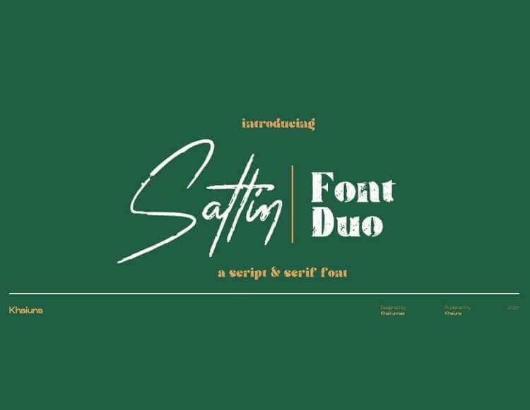 SATTIN - FREE SCRIPT & SERIF FONT DUO