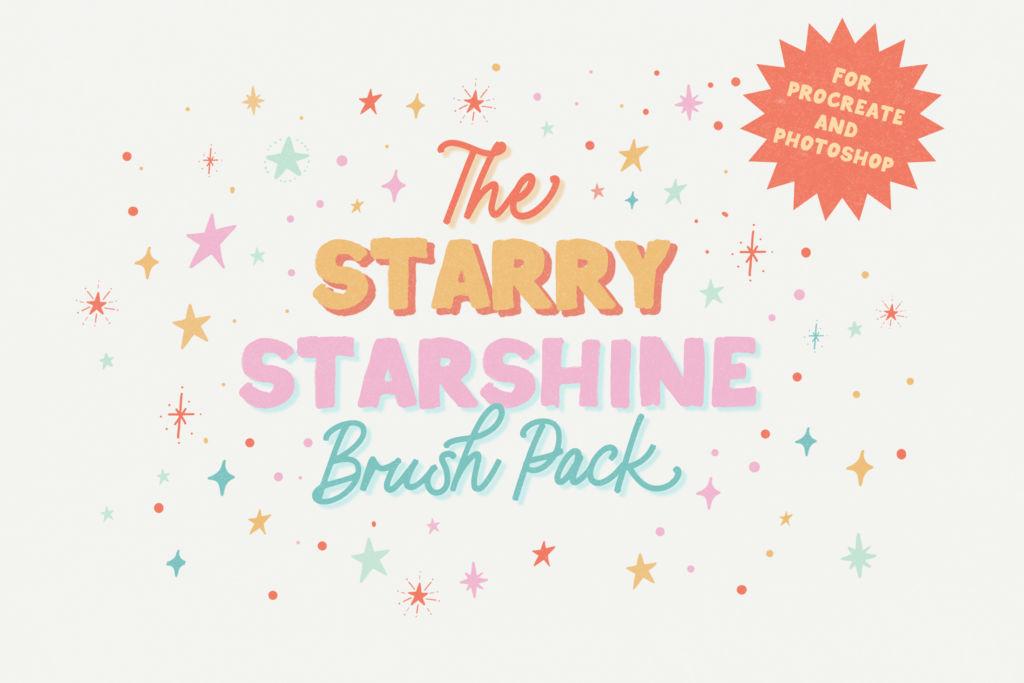STARRY STARSHINE BRUSH PACK FOR PROCREATE AND PHOTOSHOP