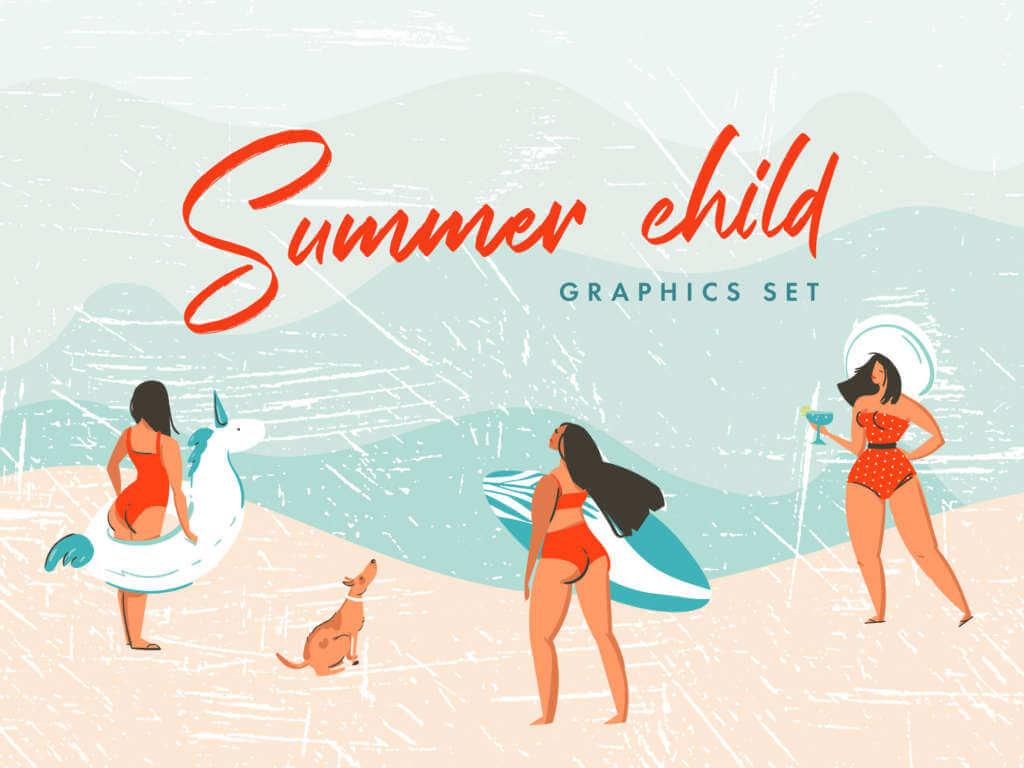 Summer Child Graphics Set