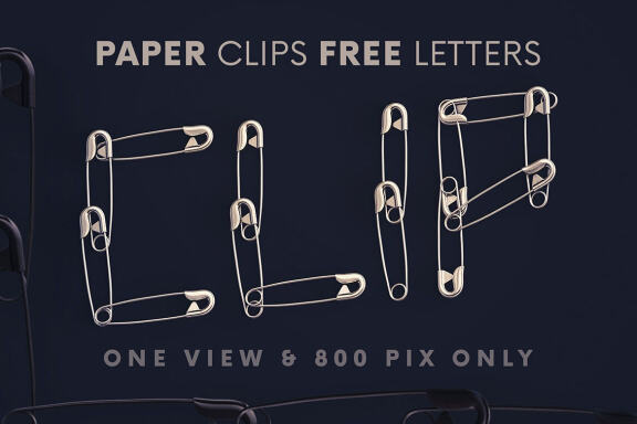 Safety Pins - Free 3D Lettering