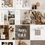 Sales Promo Instagram Templates Canva - customizable editable elegant posts stories minimum design