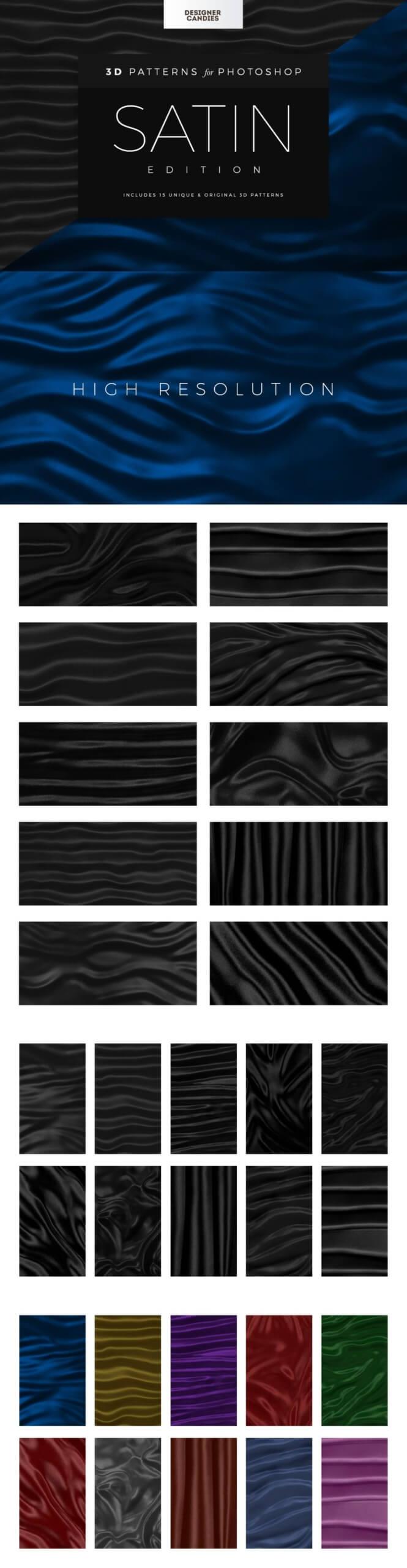 Seamless Silk and Saturn Fabric Patterns