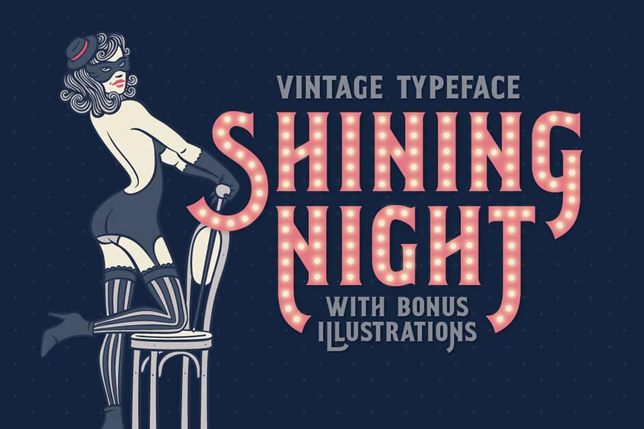 Shining Night Font + Bonus!