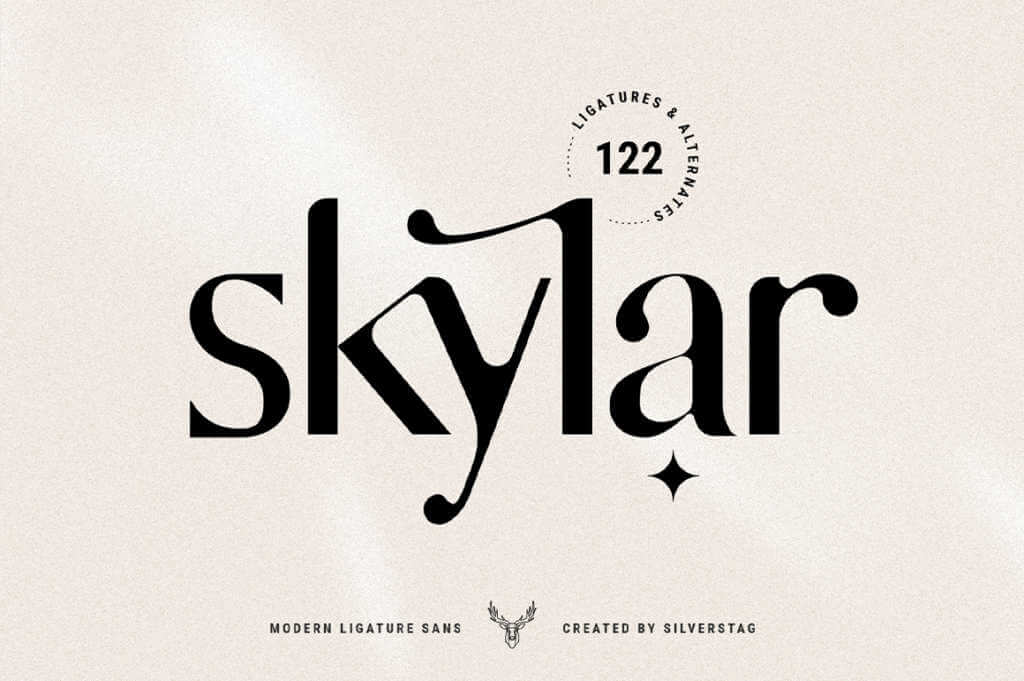 Skylar – Modern Ligature Sans Font