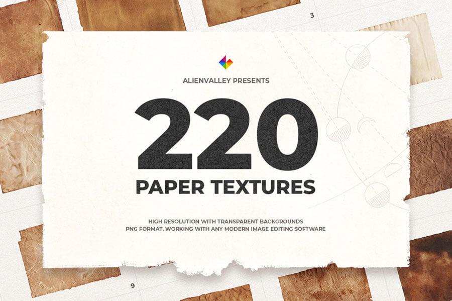 220 UNIQUE PAPER TEXTURES