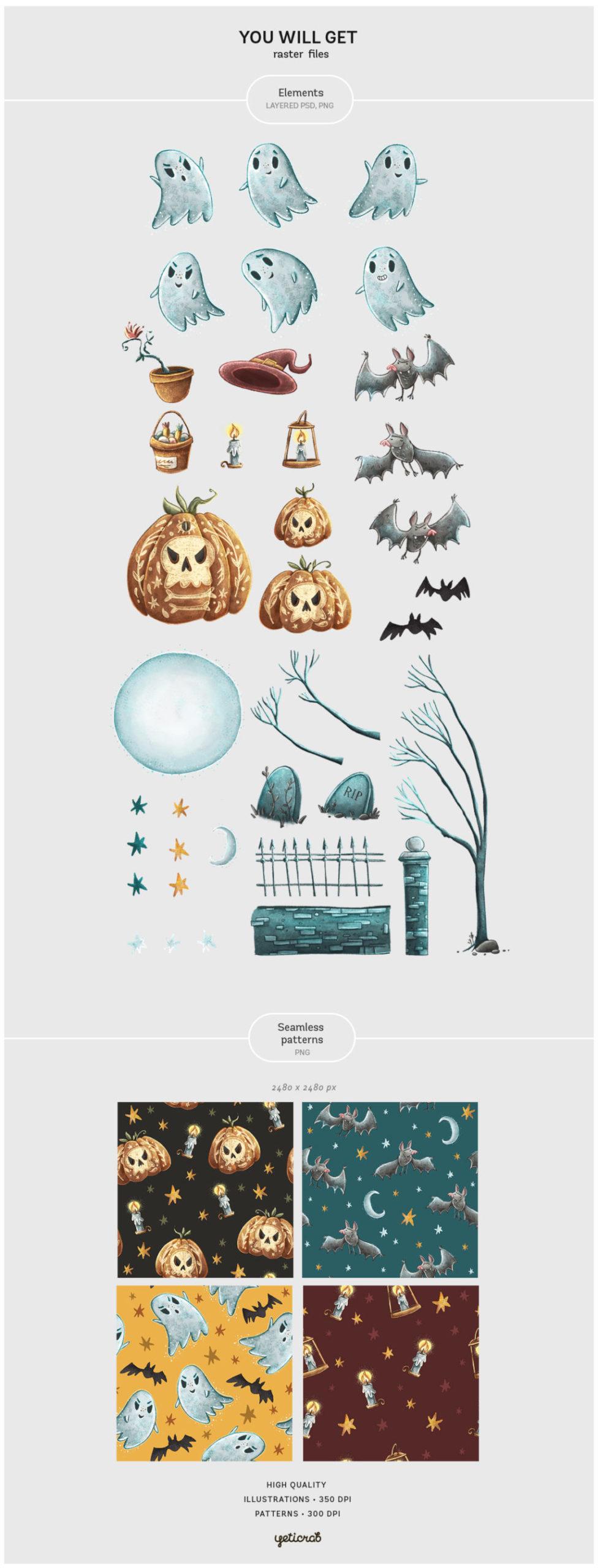 Spooky Night – Halloween Set