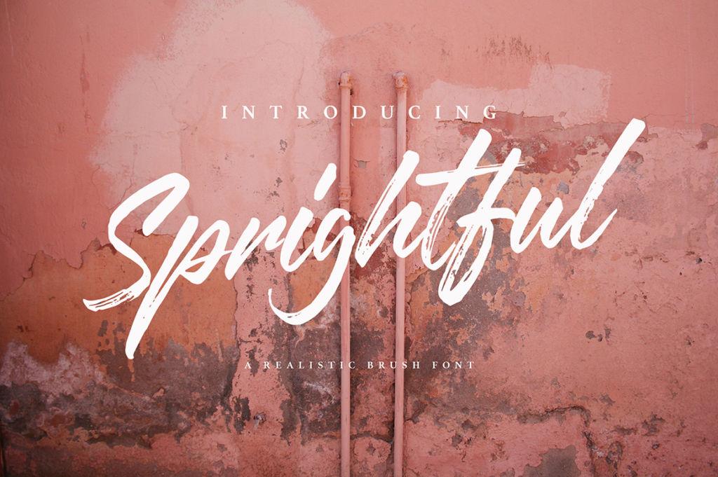 Springhtful Font