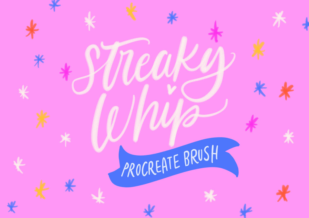 STREAKY WHIP PROCREATE BRUSHES & EXTRAS