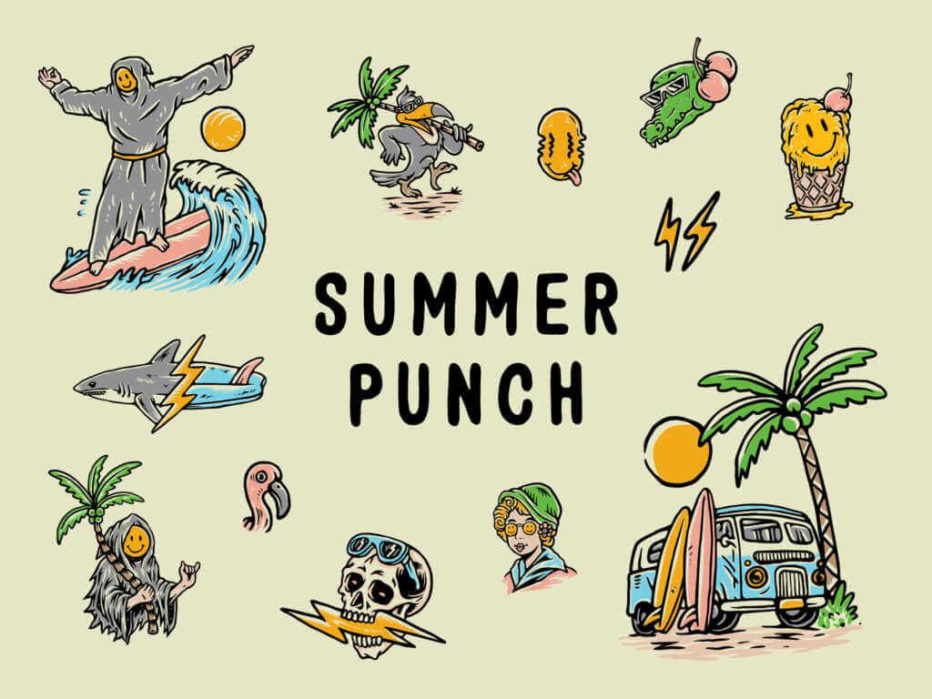 Summer Punch Illustrations