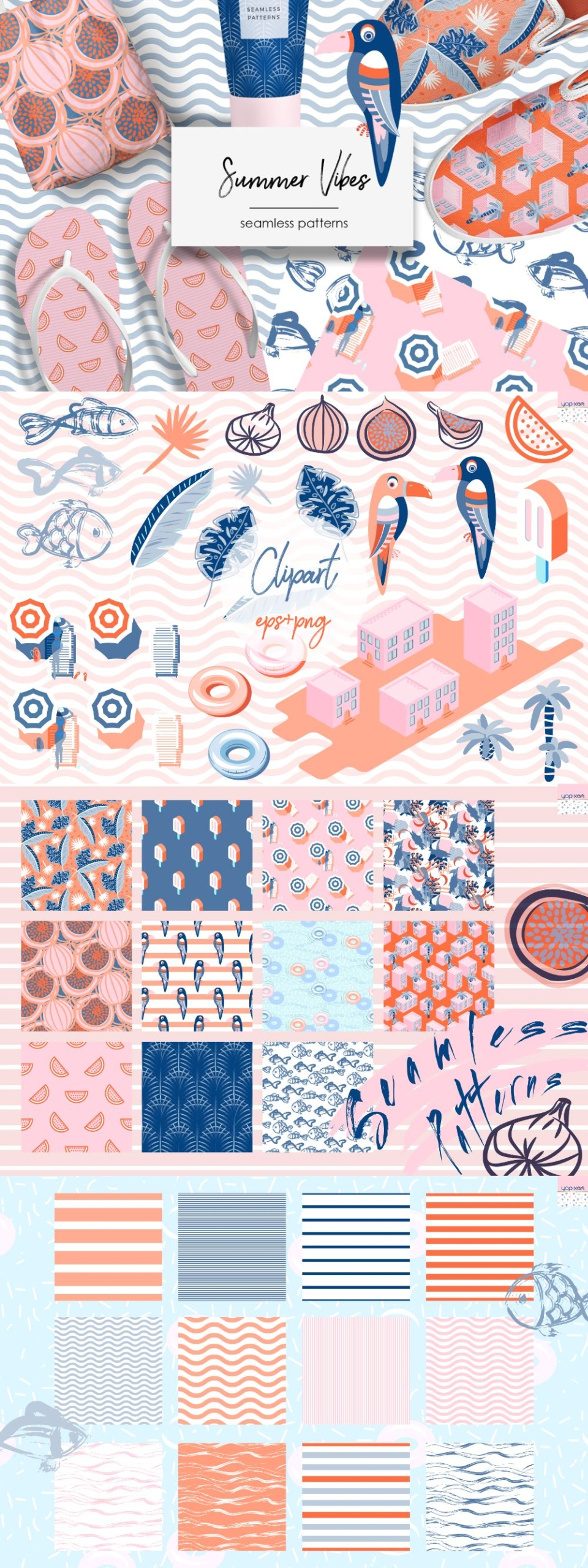 Summer Vibes – Graphics & Patterns